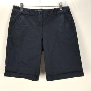 J. Crew Sz 2 Navy Blue Summerweight Bermuda Shorts